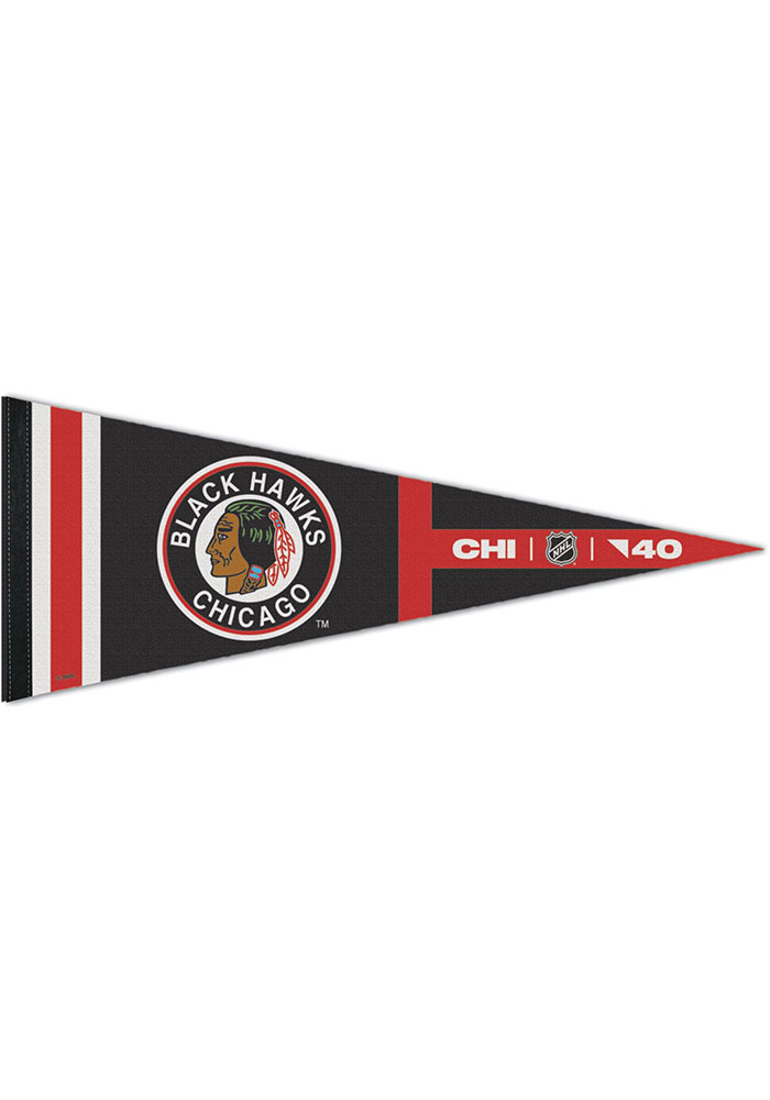 Chicago Blackhawks Reverse Retro Logo Pennant
