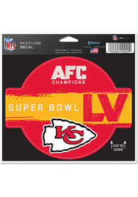 Kansas City Chiefs Super Bowl LV Bound Logo 4.5x6 Auto Decal - Red
