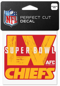 Kansas City Chiefs Super Bowl LV Bound 4x4 Color Auto Decal - Red