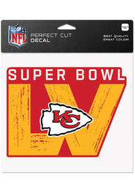 Kansas City Chiefs Super Bowl LV Bound 8x8 Color Auto Decal - Red