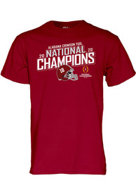 Alabama Crimson Tide 2020 Football National Champions T Shirt - Cardinal