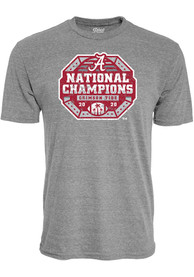 Alabama Crimson Tide 2020 Football National Champions Fashion T Shirt - Grey