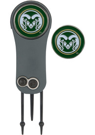 Colorado State Rams Ball Marker Switchblade Divot Tool