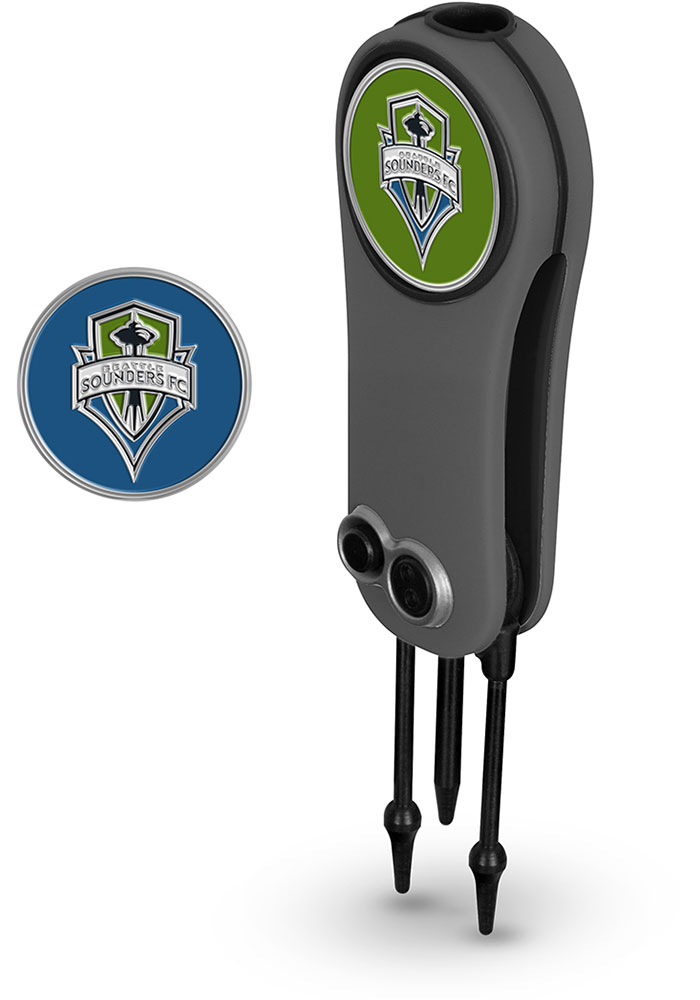 Seattle Sounders FC Ball Marker Switchblade Divot Tool - Image 1
