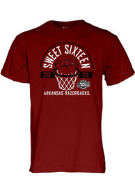 Arkansas Razorbacks 2021 Sweet Sixteen T Shirt - Cardinal