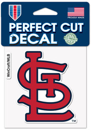 St Louis Cardinals 4x4 inch Auto Decal - Red