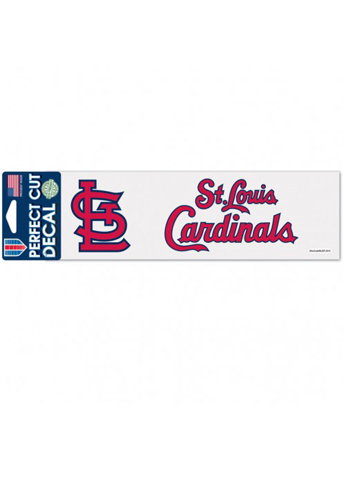 St Louis Cardinals 3x10 Retro Auto Decal - Red - Image 1