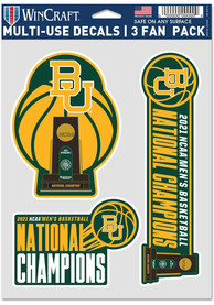 Baylor Bears 2021 National Champions 3 Pack Auto Decal - Green