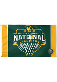 Baylor Bears 2021 National Champions 3X5 Green Silk Screen Grommet Flag