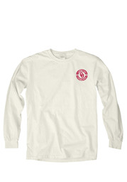 OU Sooners Womens Overdyed ivory LS Tee