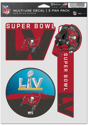 Tampa Bay Buccaneers SB LV Bound 3 Pack Fan Auto Decal - Red