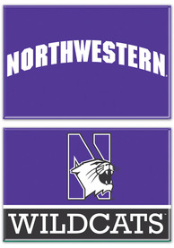 Northwestern Wildcats 2 Pack Rectangle Magnet