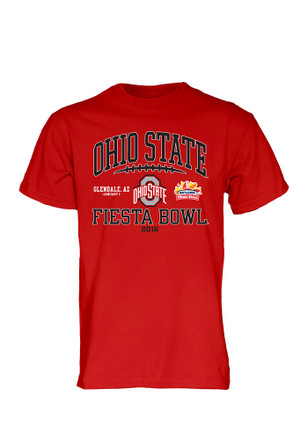 OSU Mens Black 2016 Fiesta Bowl Laces Out SS Tee