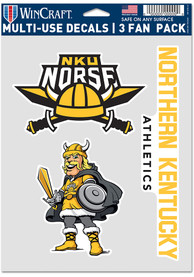 Northern Kentucky Norse 3pk Auto Decal - Yellow
