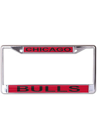 Chicago Bulls Printed Metallic License Frame