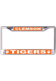 Clemson Tigers Printed Metallic License Frame