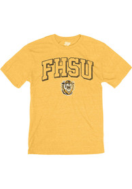 Fort Hays State Tigers Triblend Fashion T Shirt - Gold