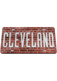 Cleveland Team Color Acrylic Car Accessory License Plate