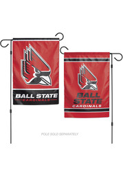 Ball State Cardinals 12x18 inch 2 Sided Garden Flag
