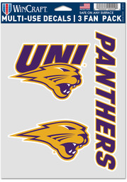 Northern Iowa Panthers 3 Pack Auto Decal - Purple