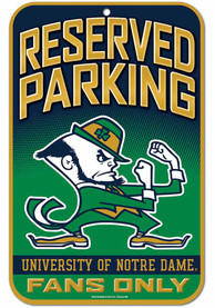 Notre Dame Fighting Irish Reserved Parking Sign