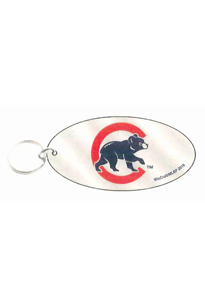 Chicago Cubs Oval Love Keychain - Image 1