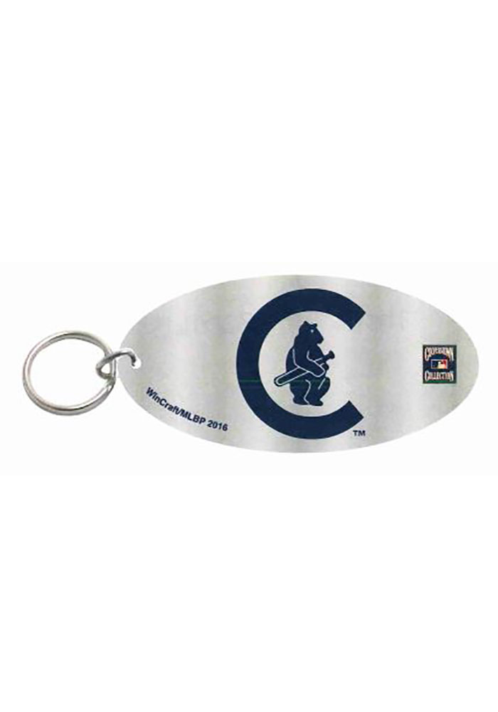 Chicago Cubs Vintage 1908 Oval Keychain - Image 1