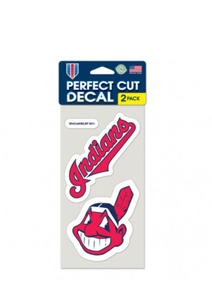 Cleveland Indians 2-Pack 4x4 Perfect Cut Decal