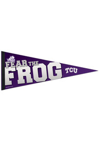 TCU Horned Frogs Premium 12x30 Pennant
