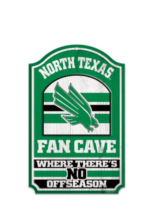 North Texas Mean Green Fan Cave Sign