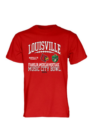Louisville Cardinals Mens Red Laces Out Tee
