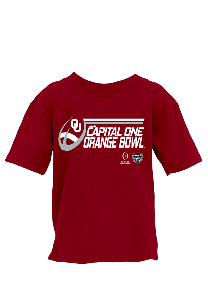 0b67a3bf4cca Oklahoma Sooners Youth Red First Half Short Sleeve T-Shirt - Image 1
