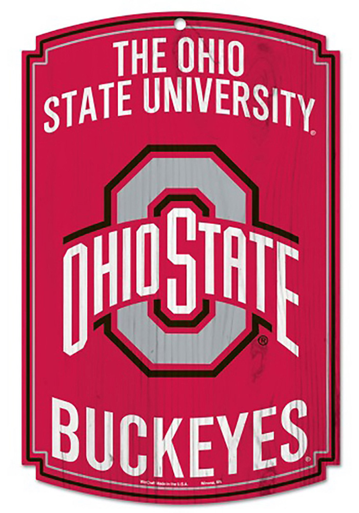 Ohio State Buckeyes Wood Sign - Image 1