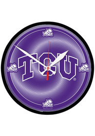 TCU Horned Frogs Round Wall Clock