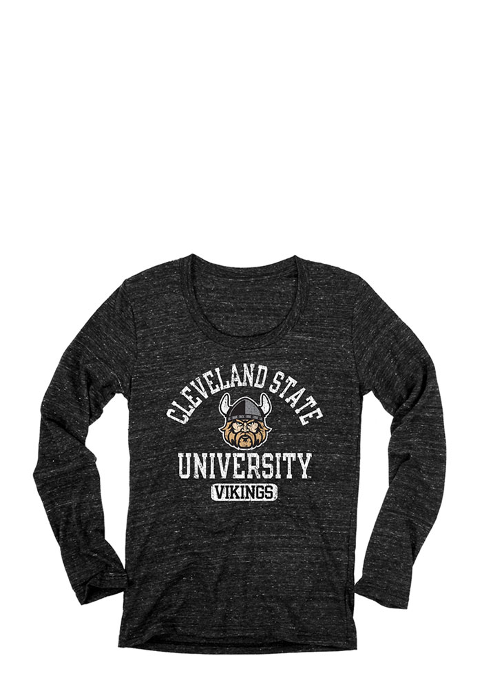 CSU Vikings Juniors Black Danville Long Sleeve Scoop Neck 571149