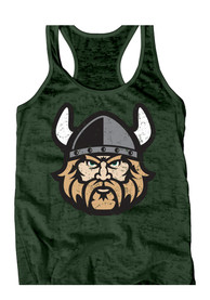 Cleveland State Vikings Juniors Green Burnout Tank Top