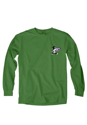 K-State Wildcats Womens Overdyed Green T-Shirt