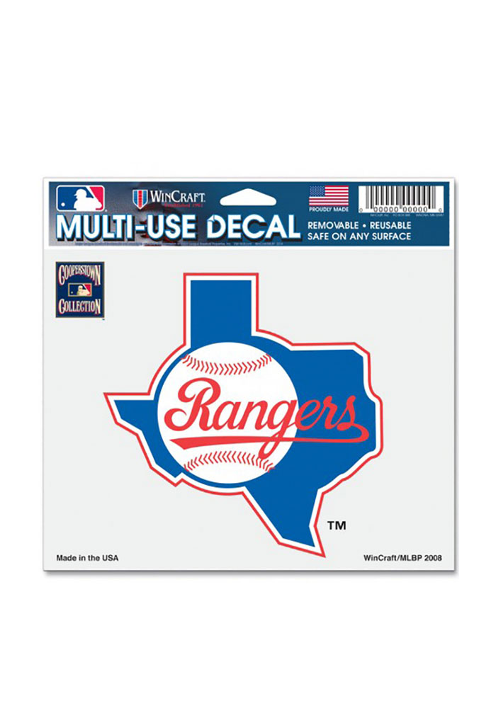 Texas Rangers 5x6 State of Texas Decal - Image 1