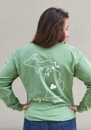 Michigan State Spartans Womens Overdyed Green T-Shirt