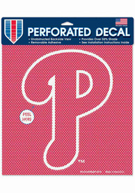 Philadelphia Phillies 12x12 Perforated Auto Decal - Red