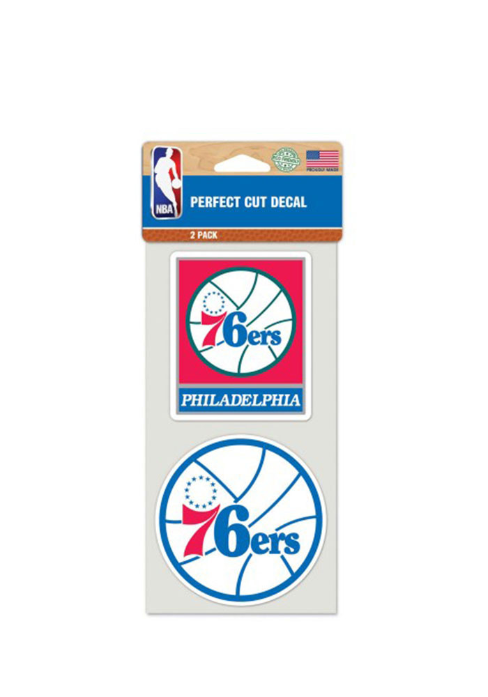 Philadelphia 76ers 4x4 2 Pack Perfect Cut Decal - Image 1