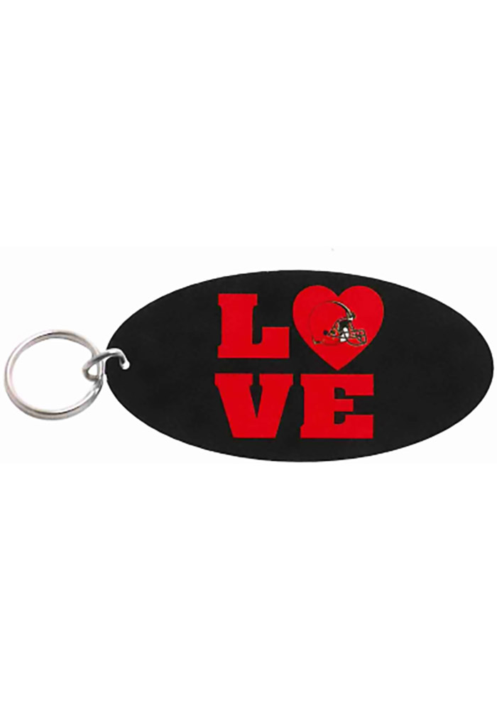 Cleveland Browns Oval Love Keychain - Image 1