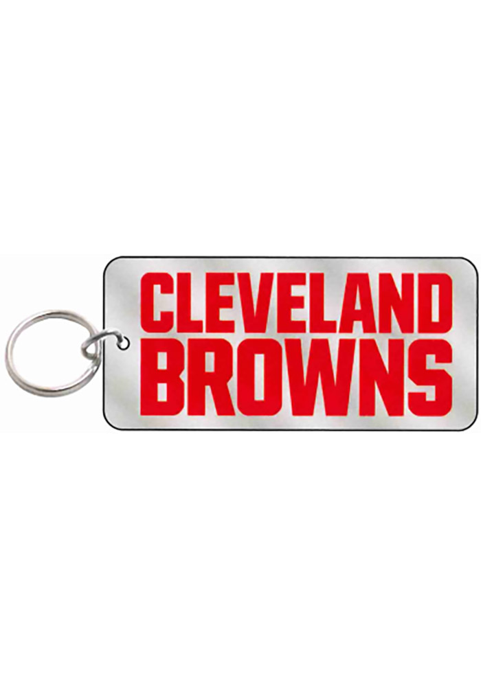 Cleveland Browns Frost Rectangle Keychain - Image 1