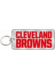 Cleveland Browns Frost Rectangle Keychain