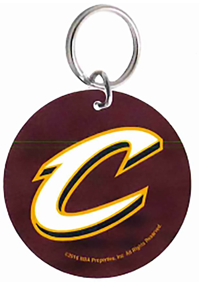 Cleveland Cavaliers Glossy Circle Keychain - Image 1