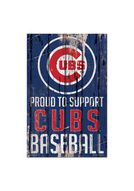 Chicago Cubs 11x17 Proud Supporter Sign