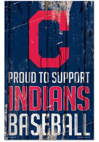 Cleveland Indians 11x17 Proud Supporter Sign