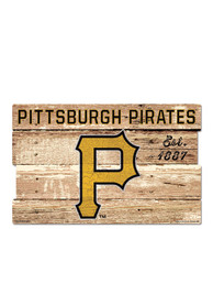 Pittsburgh Pirates 19x30 Wood Plank Sign