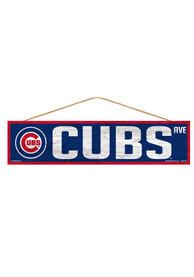 Chicago Cubs 4x17 Avenue Wood Sign