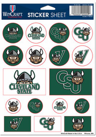 Cleveland State Vikings Sheet of Team Logo Stickers